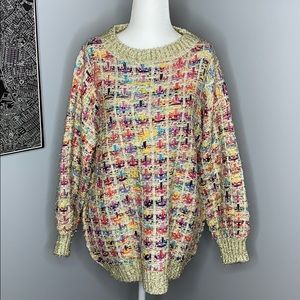 Gold Tinsel Oversized Anthropologie Sweater